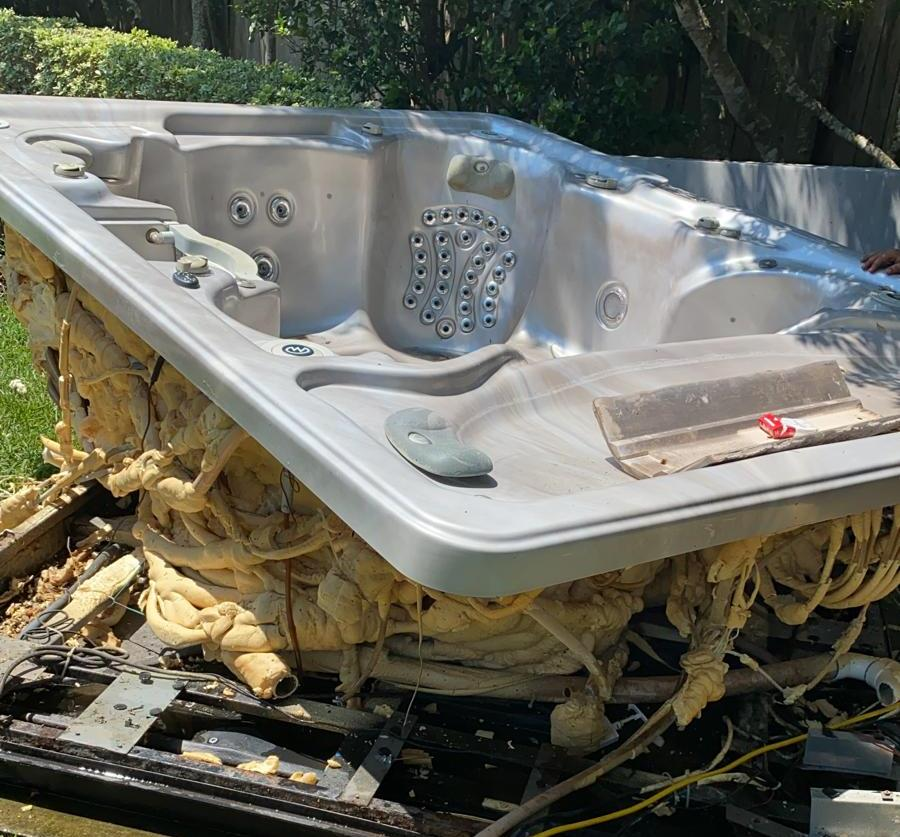 old hot tub removal